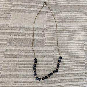 Jewelry - Lapiz and Bronze Midi- Necklace